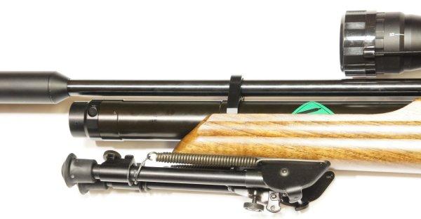 Das Luftgewehr HW 100 T wird duch dieses Zweibek  der Marke Harris sehr gut ergänzt. Jedenfalls entspricht es in der Qualität dem hervorragende Gewehr.