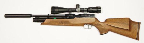 Weihrauch HW100 s sd Pressluftgewehr mit Zweibein und ZF