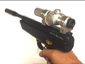 Hw 70 luftpistole miot leuchtpunktvisier