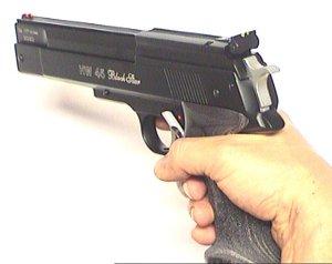 HW 45 black star Kaliber 4,5mm Luftpistole mit Sportgriff