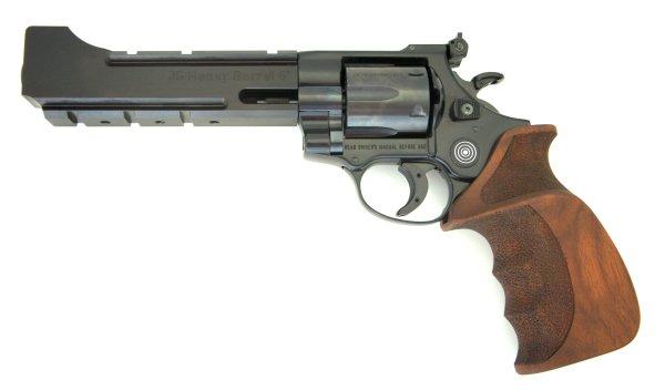 LEP Revolver- Sondermodell ME Bull Barrel im Kaliber 5,5mm mit Laufmantel und sportlichem Holzgriff