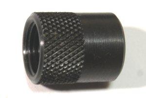 Rändelmutter für Laufgewinde 0.5 Zoll UNF, 18,5 mm lang