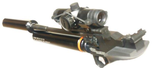 Montagebeispiel Luftpistole Rhöm Competitor /  Angebot gilt ohne Waffe, wobei die Waffe auch nicht mehr produziert wird.