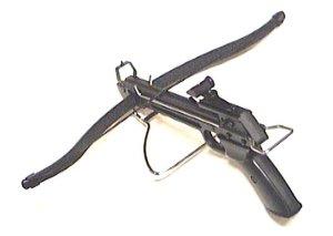 Diese Armbrustpistole ist vom Hersteller mit 80 lbs Zuggewicht angegeben