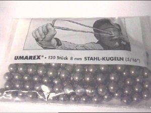 120er Pack 8mm Stahlkugeln für Zwillen