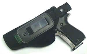 Anwendungsbeispiel  Gürtelhalfter für Pistolen