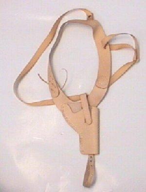 naturfarbenes Schulterholster aus Leder für Revolver