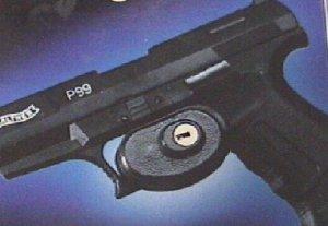 Anwendungsbeispiel Abzugsschloss für Gewehre, Pistolen und Revolver