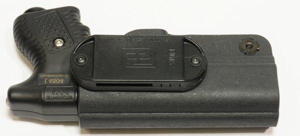 Holster für JPX aus robustem Kunststoff / Anwendungsbeispiel, Angebot ohne Abschussgerät
