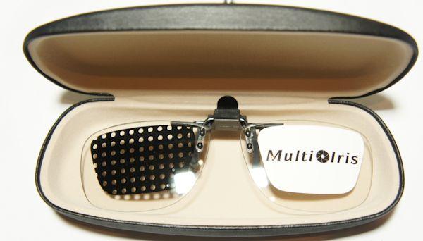 Multi Iris Brillenaufsatz, Rechts und klar