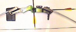 Die Viesierung beim Kinderbogen- Set ist verstellbar. Man kann aber auf deren Montage auch verzichten und intuitiv über den Pfeil schießen.