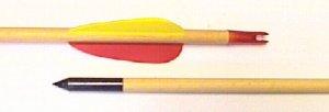 Pfeil aus Holz mit Stahlspitze, Länge 29 Zoll