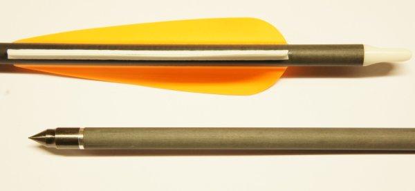 Carbonpfeil mit eingeschraubter Spitze