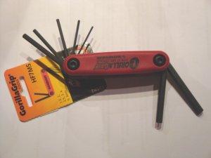 metrische Inbusschlüssel Gorilla Grip 1,5 bis 6mm
