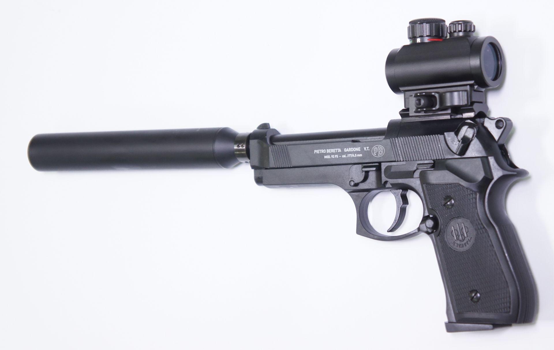 RTU Set mit der CO2 Luftpistole Modell Beretta 92FS in schwarz
