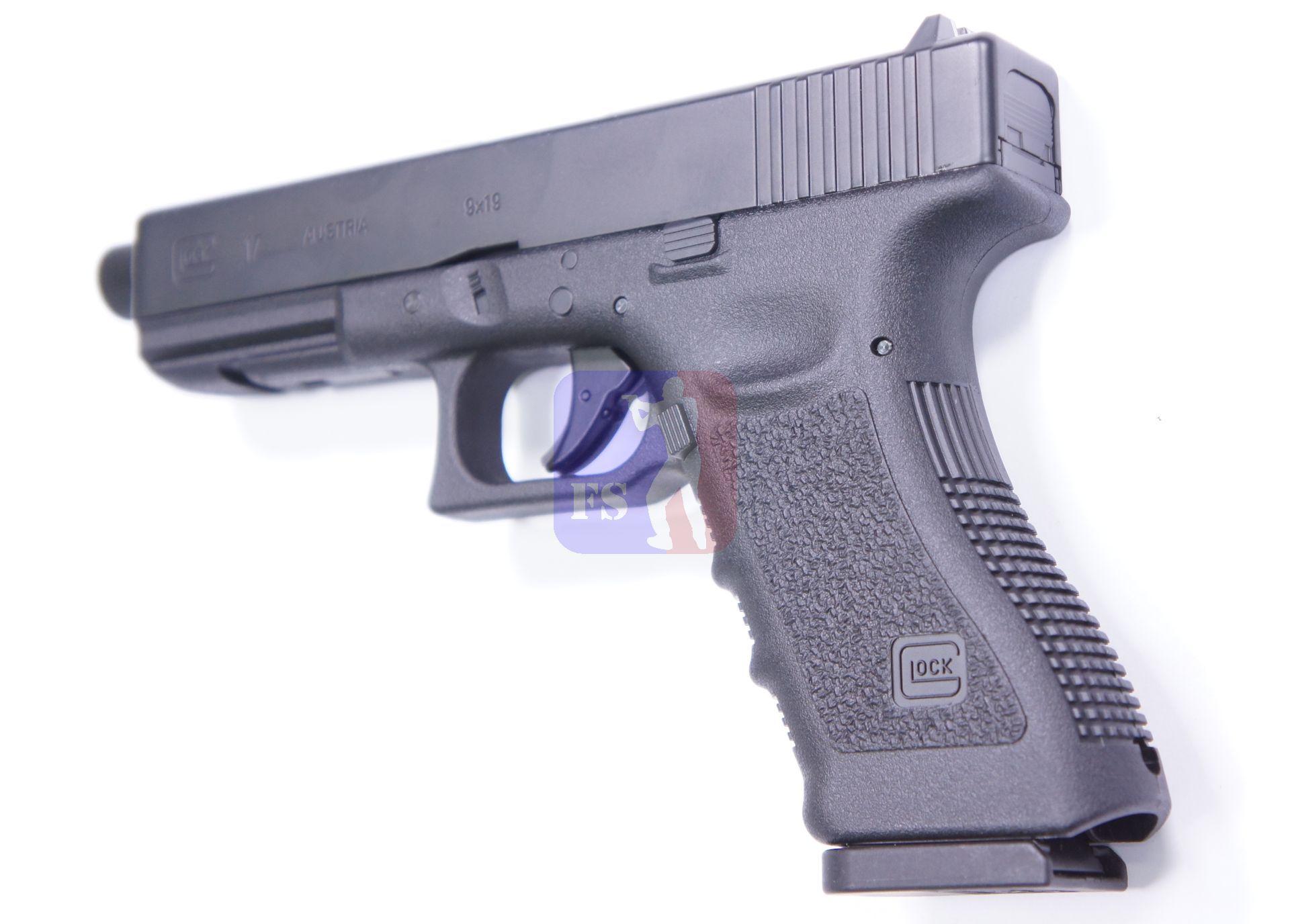 GLOCK 17 als CO2 Pistole ist aus allen Blickwinkeln sehr originalgetreu