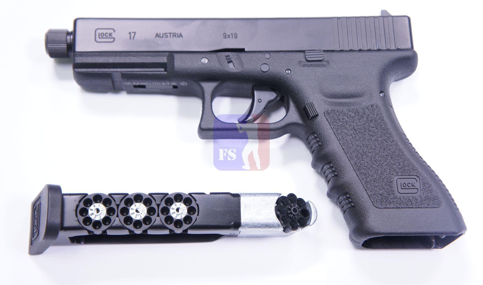 GLOCK 17 als CO2 Pistole mit 8 Schuss Magazinen Kaliber 4,5mm