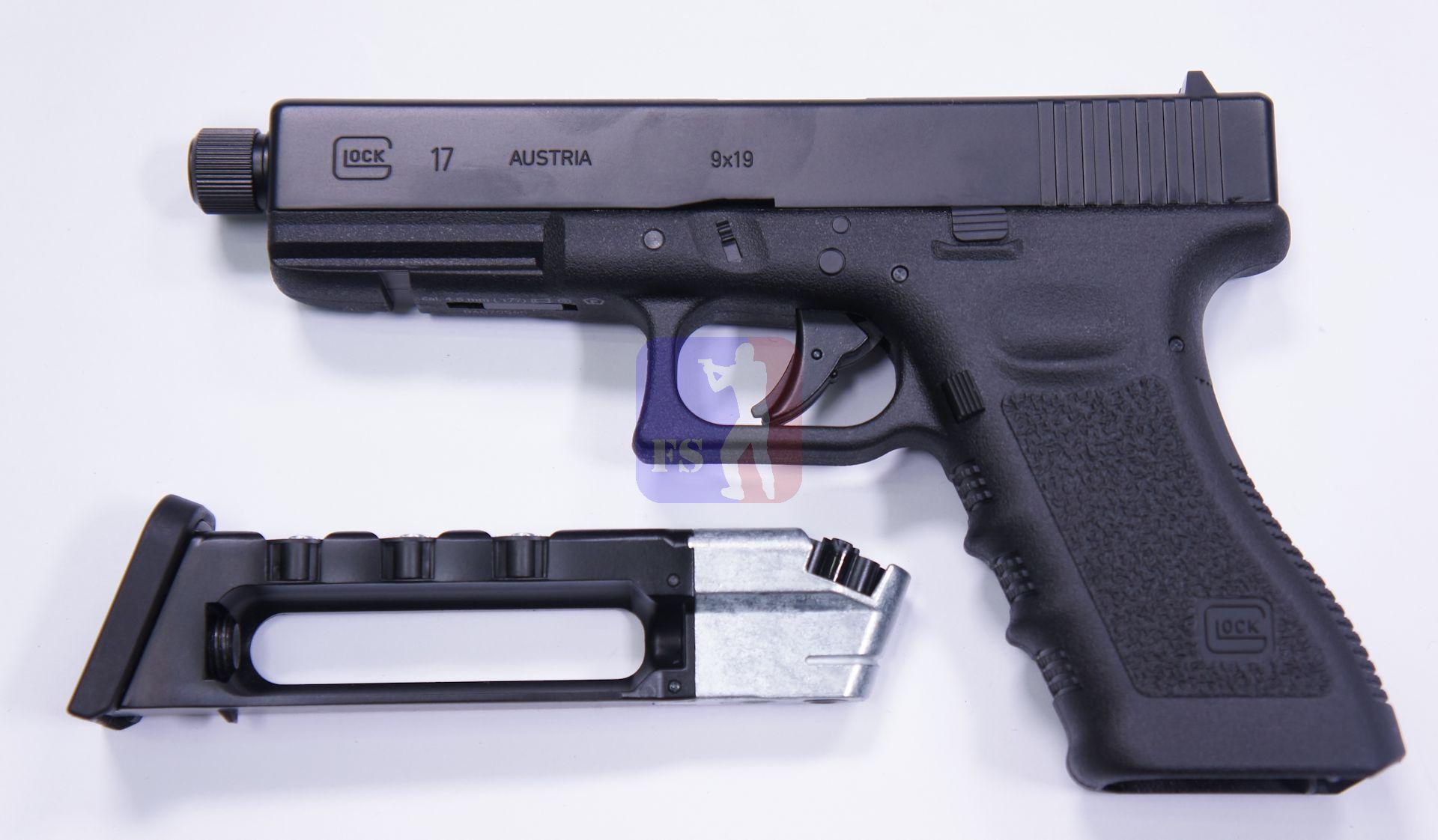 GLOCK 17 als CO2 Pistole mit 8 Schuss 4 Stück Magazinen Kaliber 4,5mm