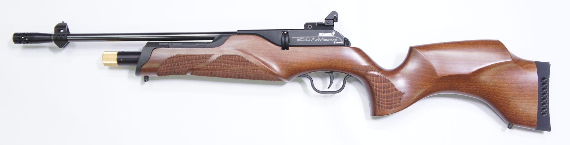 Hämmerli 850 Carbine mit offener Visierung in Form von Korn und Lochkimme