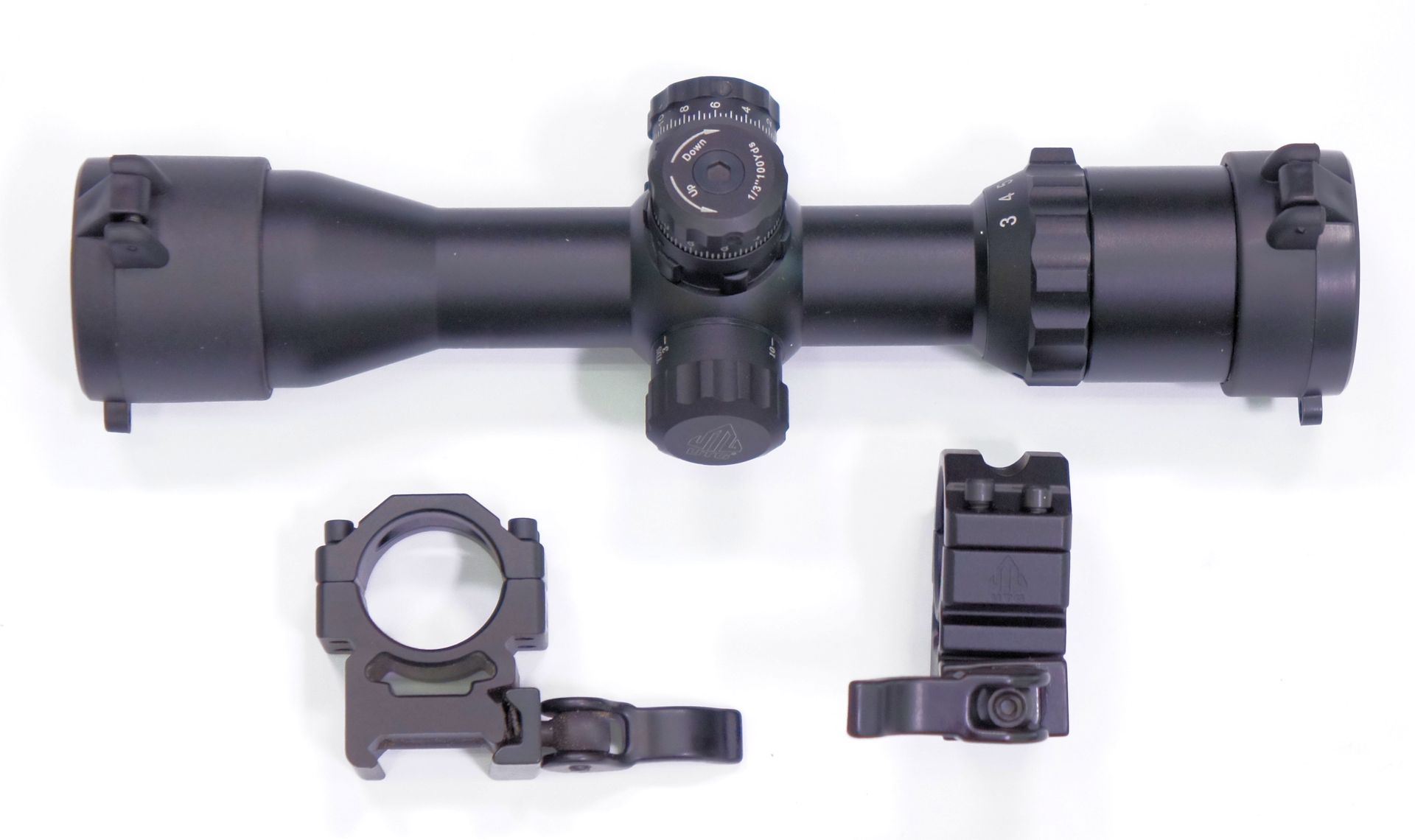 UTG compact 3-12x32 mit seitlicher Parallaxeverstellung und Montagefüßen 21mm