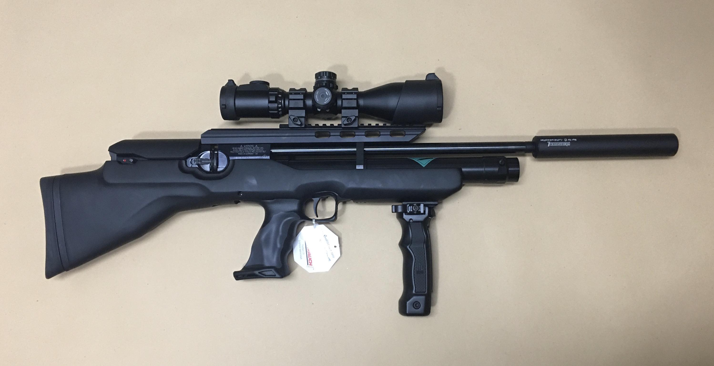 Auch hier sehen Sie dieses compakte Zielfernrohr im Montagebeispiel auf einem <a href=1160466-45-41.htm> Luftgewehr HW 100 BP</a>