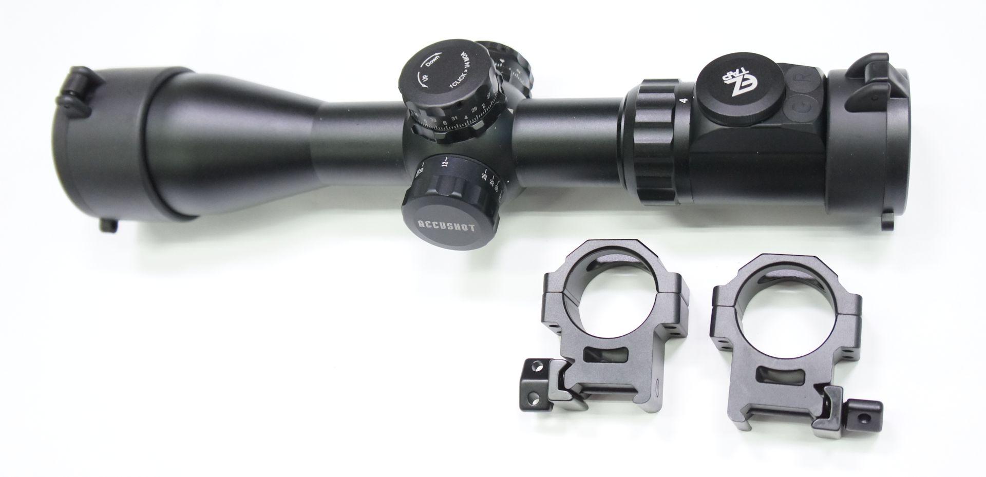 UTG compact 4-16x44 mit geätzten Glaslinsen, Absehen und Weaver Montagefüßen