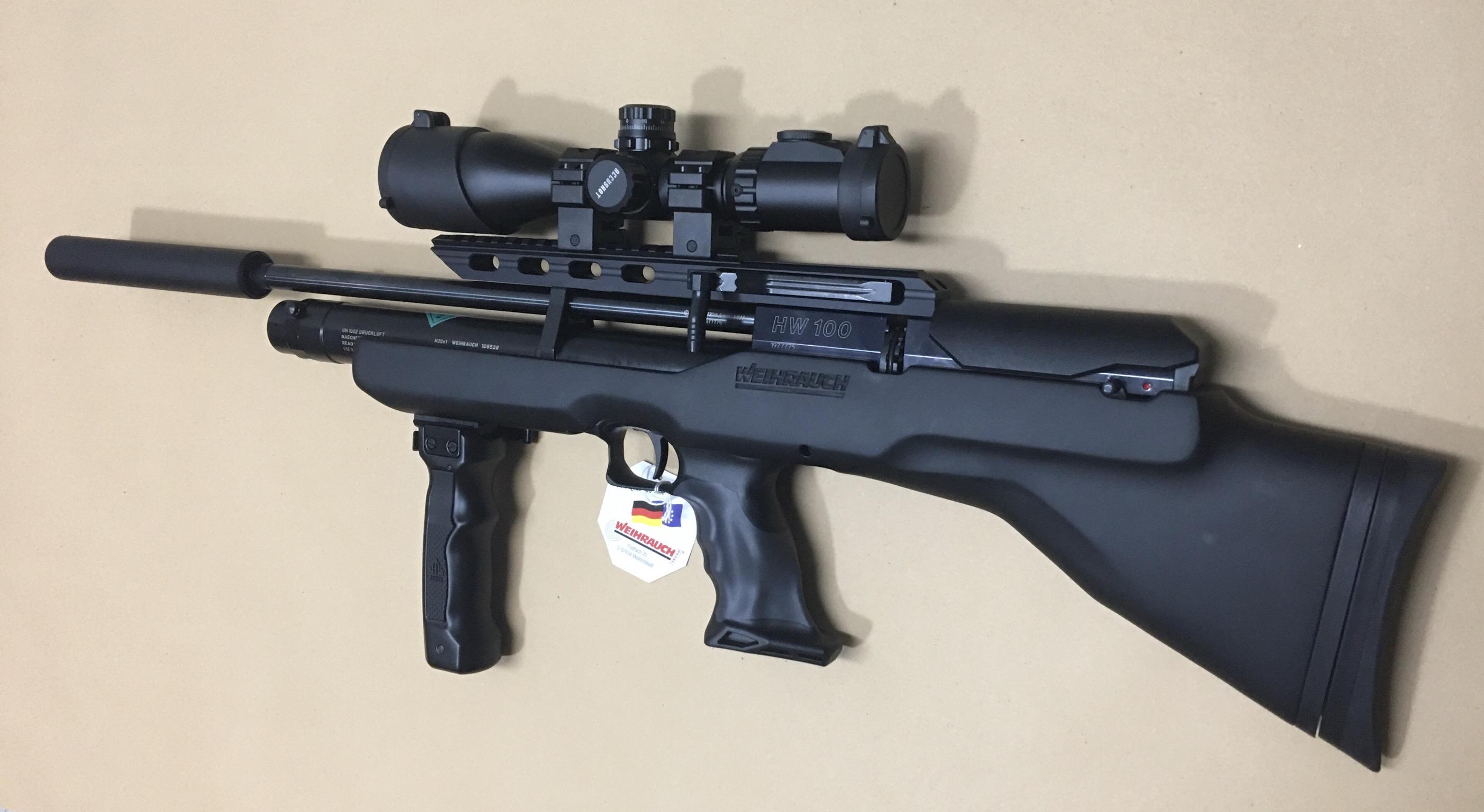 Hier sehen Sie diese compakte Optik mit Glaslinsen im Montagebeispiel auf einem <a href=1160466-45-41.htm> Luftgewehr HW 100 BP</a>