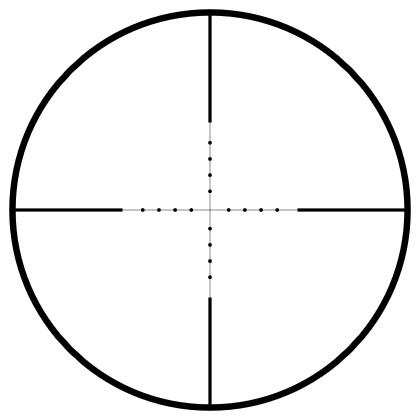 Hier sehen Sie das Absehen vom Hawke Vantage 2-7×32 AO Mil Dot
