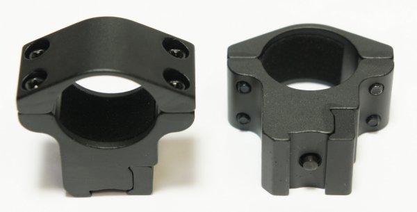 Optional möchte ich Ihnen solche passenden <a href=1130600.htm> Montageringe für 11mm Schienen</a> anbieten.