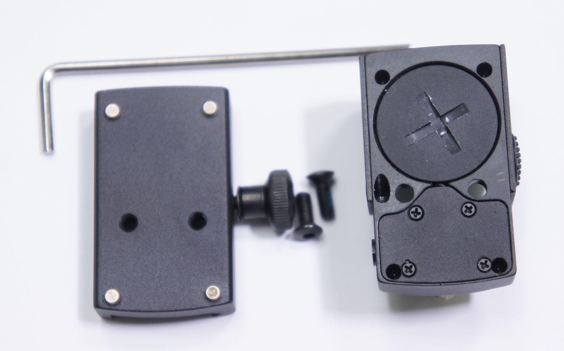 Am Hawke Reflexvisier 1x25 ist das Batteriefach mit einem extra Deckel versehen.