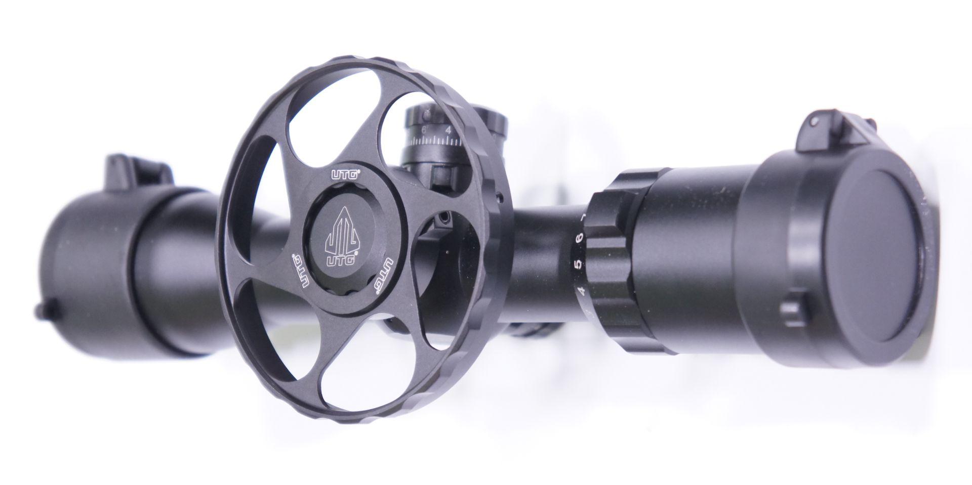 Montagebeipiel UTG Zielfernrohr 3-12x32 mit Stellrad