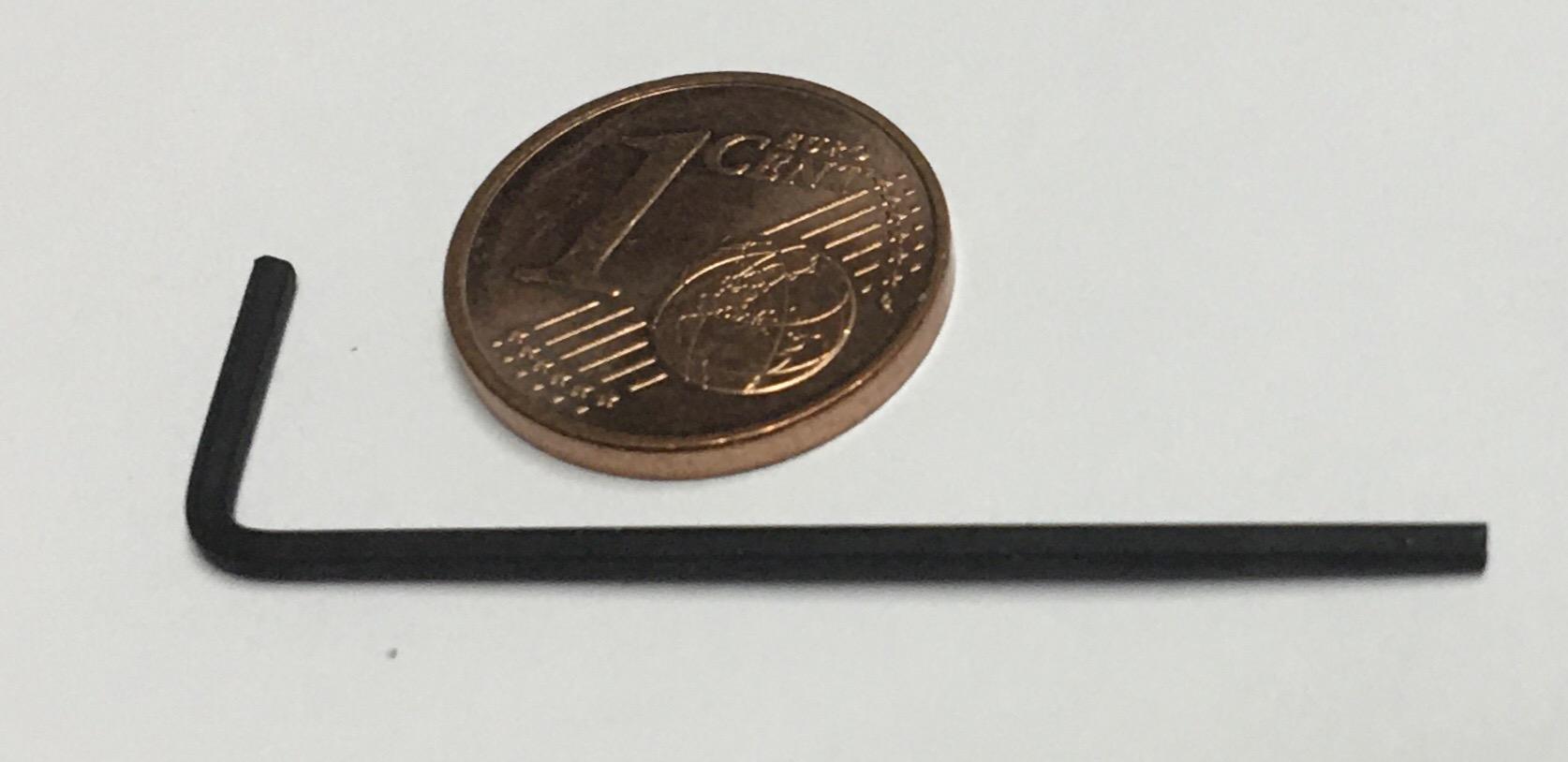 Größenvergleich zu einer Münze
