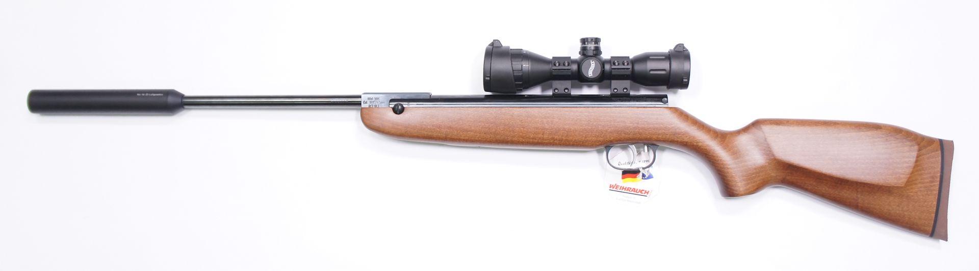 HW 30 S mit Schalldämpfer und Zielfernrohr Walther 4x32 MDC