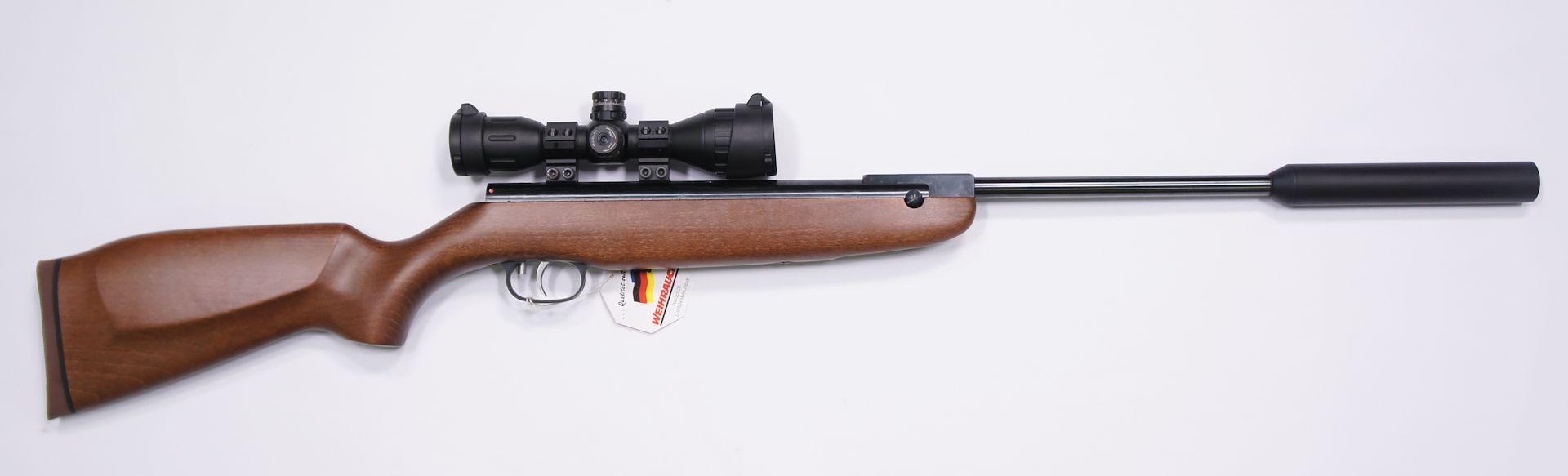 Das Luftgewehr Weihrauch HW 30S mit  Zielfernrohr Walther 4x32 MDC von der rechten Seite