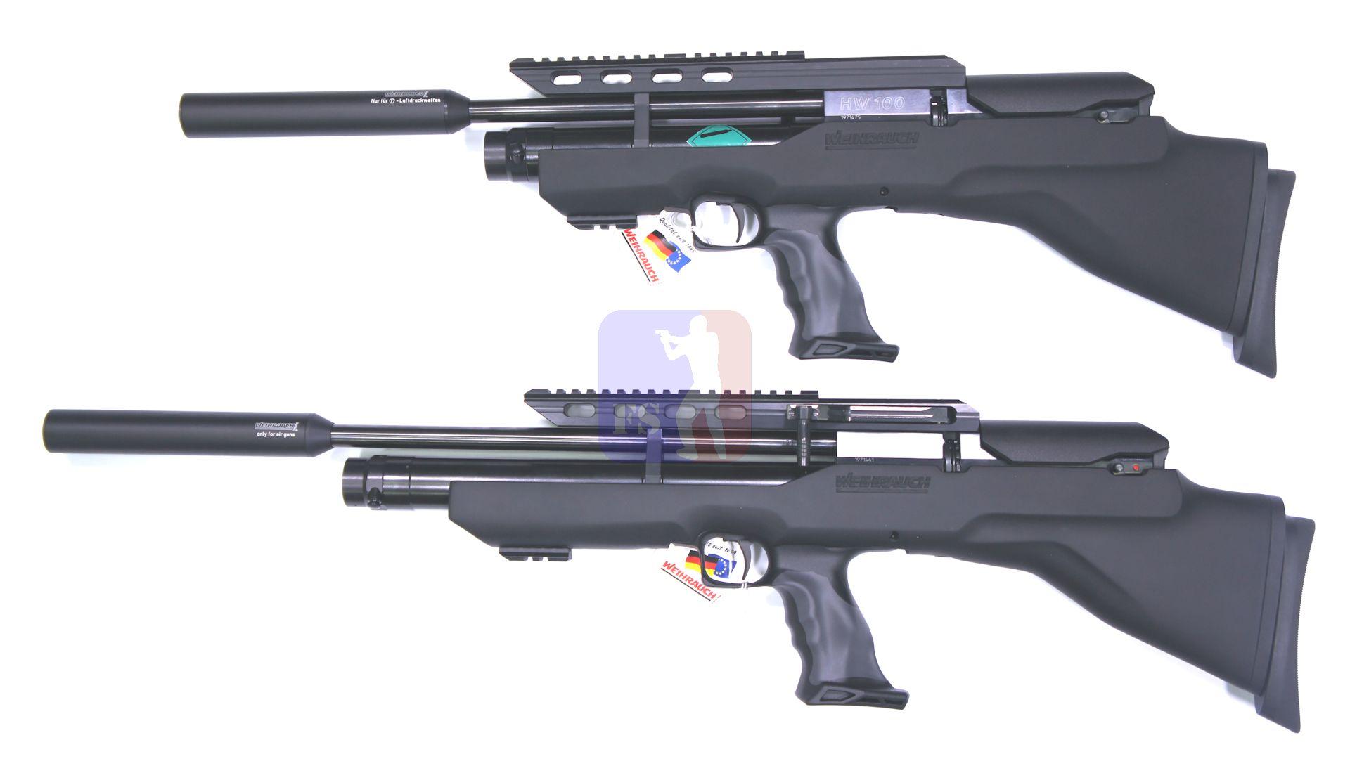 Hinter diesem Button werden die Gewehre noch in verschiedene Arten aufgeteilt