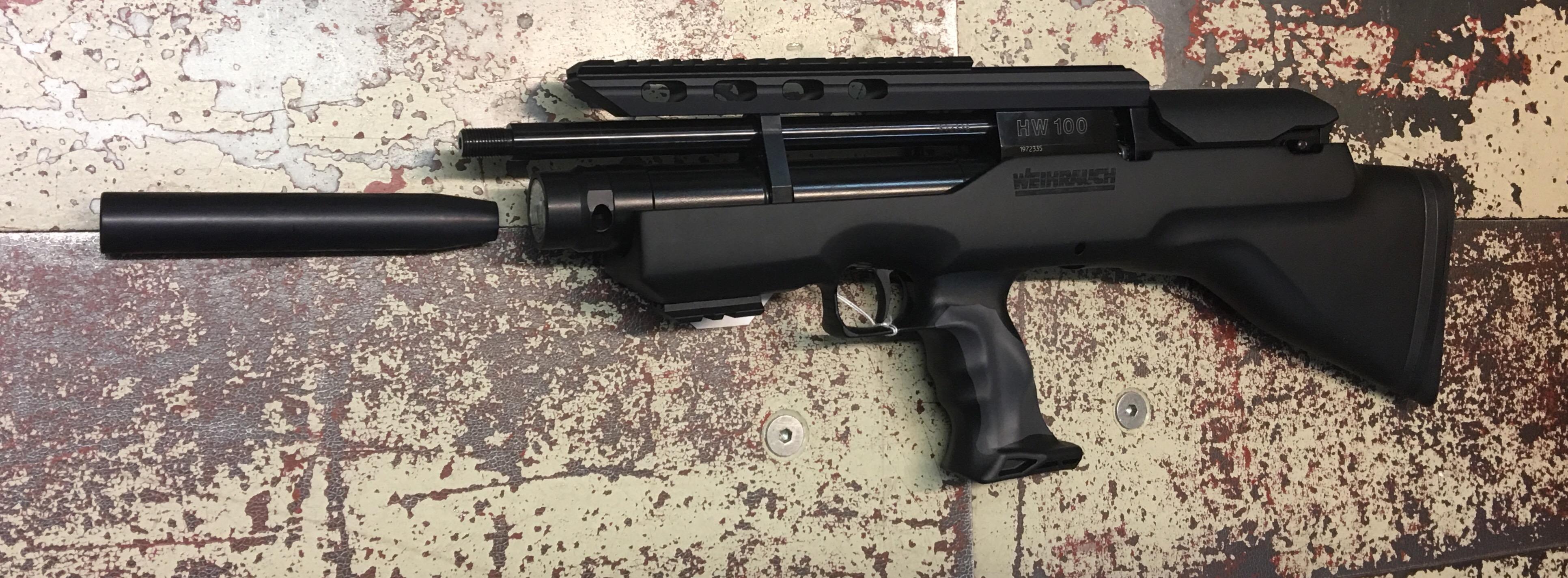 Luftgewehr Weihrauch HW 100 BP-K, 31cm Lauf, 4,5mm, F