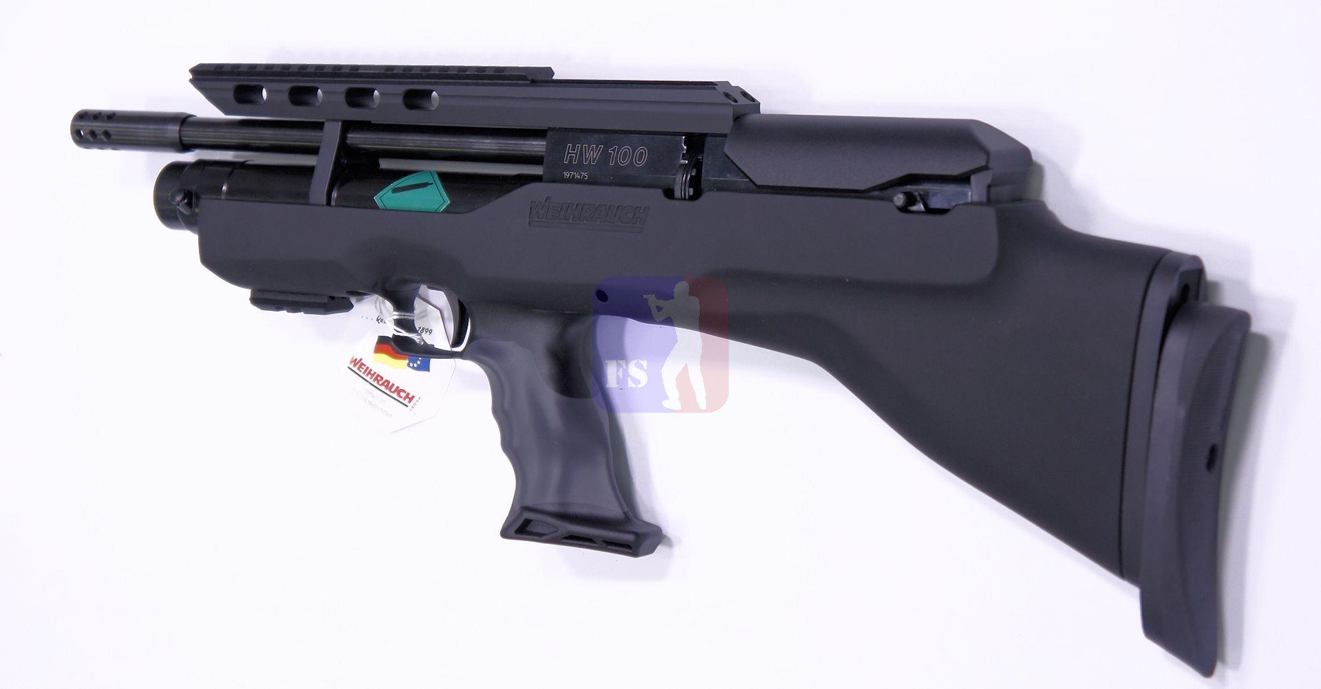 Das Luftgewqehr Weihrauch Modell HW 100 BP benötigt eine Optik. Das biete ich gerne was passendes an und würde komplett und eingeschossen liefern.