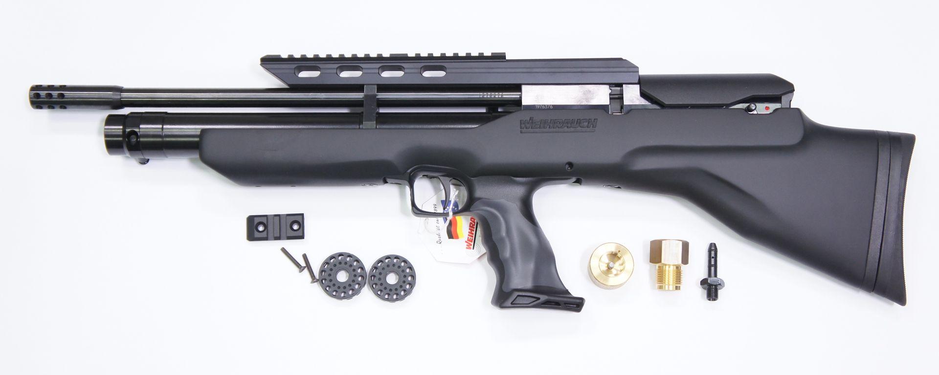 Zum Lieferumfang beim Luftgewehr Weihrauch HW 100 Bullpup gehören diese Teile