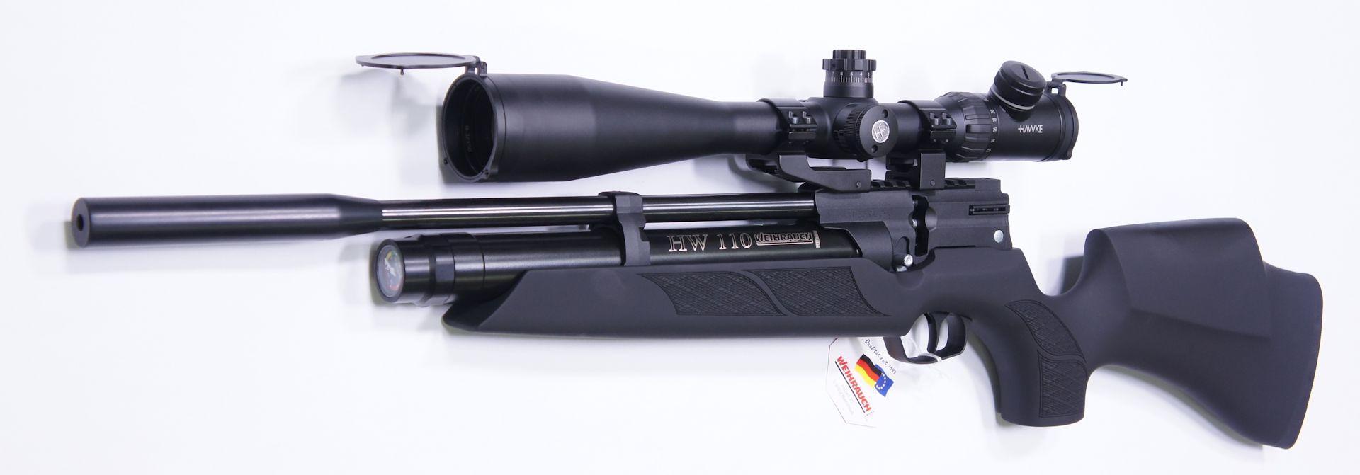 Gerne können Sie das Luftgewehr HW 110 auch mit einer noch größeren <a href=1130173.htm>Optik der Marke Hawke</a> bekommen.