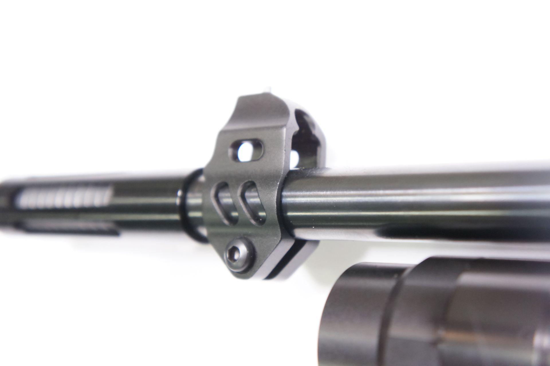 Luftgewehr Weihrauch HW 110 carbine mit dem <a href=1165810.htm> Kompensator mit Längsschlitzen</a>.