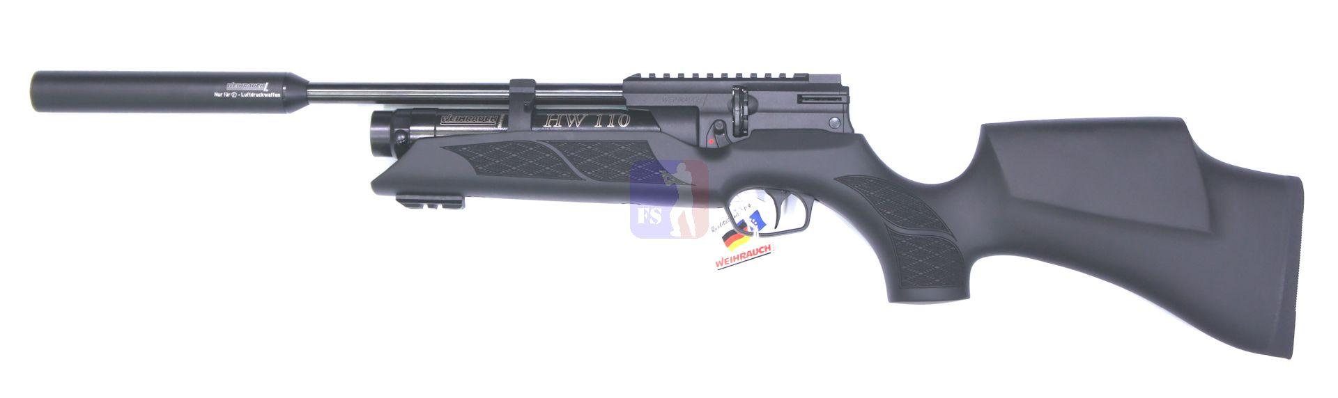 Weihrauch HW 110 ST K (Karbine), F, mit Laufgewinde und Schalldämpfer