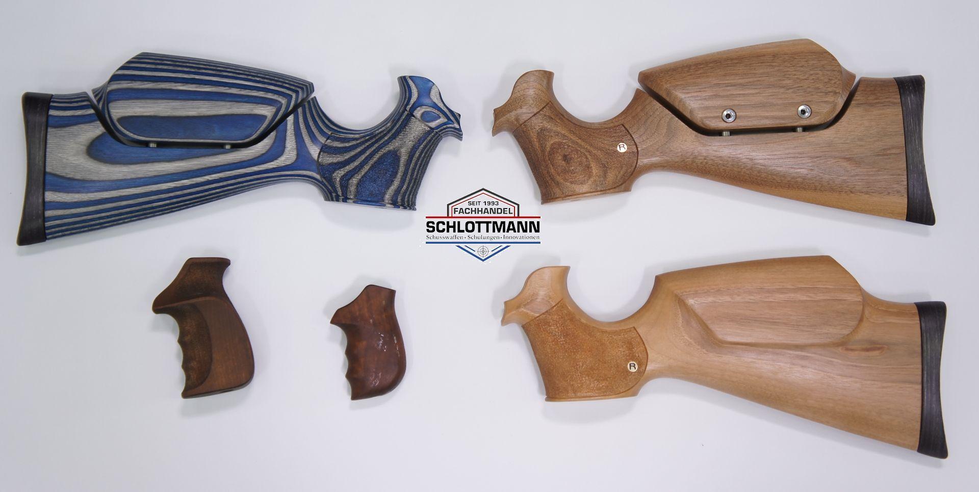 Als weiteres Zubehör kann ich Ihnen <a href=schaft-und-griff.htm> verschiedene Anschlagschäfte </a>anbiet. Diese werden speziell für die Revolver angefertigt.