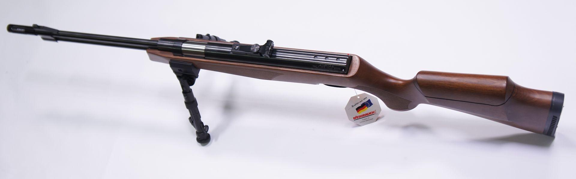 Montagebeispiel am <a href=11604-45S.htm>Luftgewehr HW 77 mit Laufgewinde und verstellbarer Schaftbacke</a>
