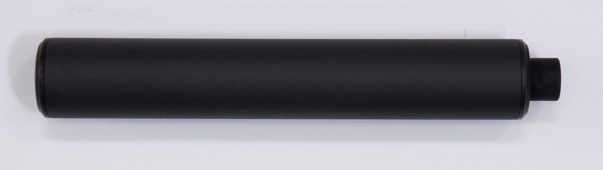 Schalldämpfer der Marke Weihrauch für Luftgewehr mit Innengewinde 0.5 Zoll UNF