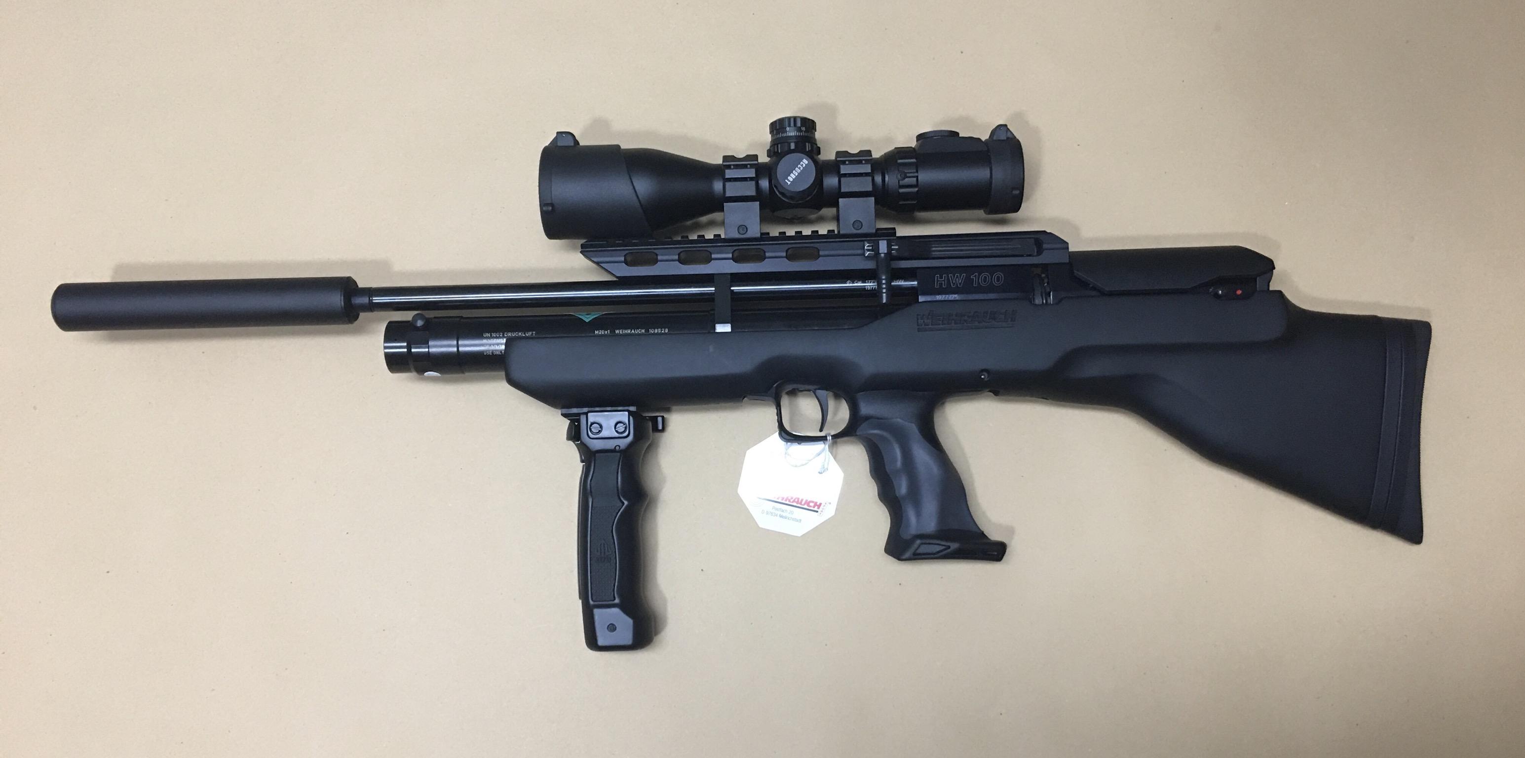 Montage Beispiel am Luftgewehr Modell HW100 BP