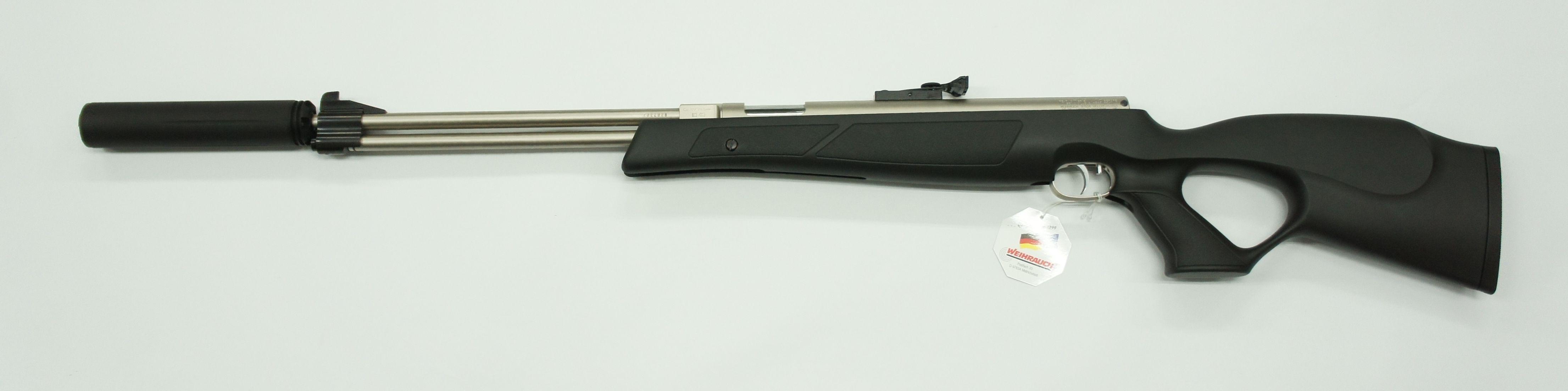 Der Schalldämpfer Modell Moderator XL sieht an anderen Luftgewehren auch sehr gut aus und wirkt bestens