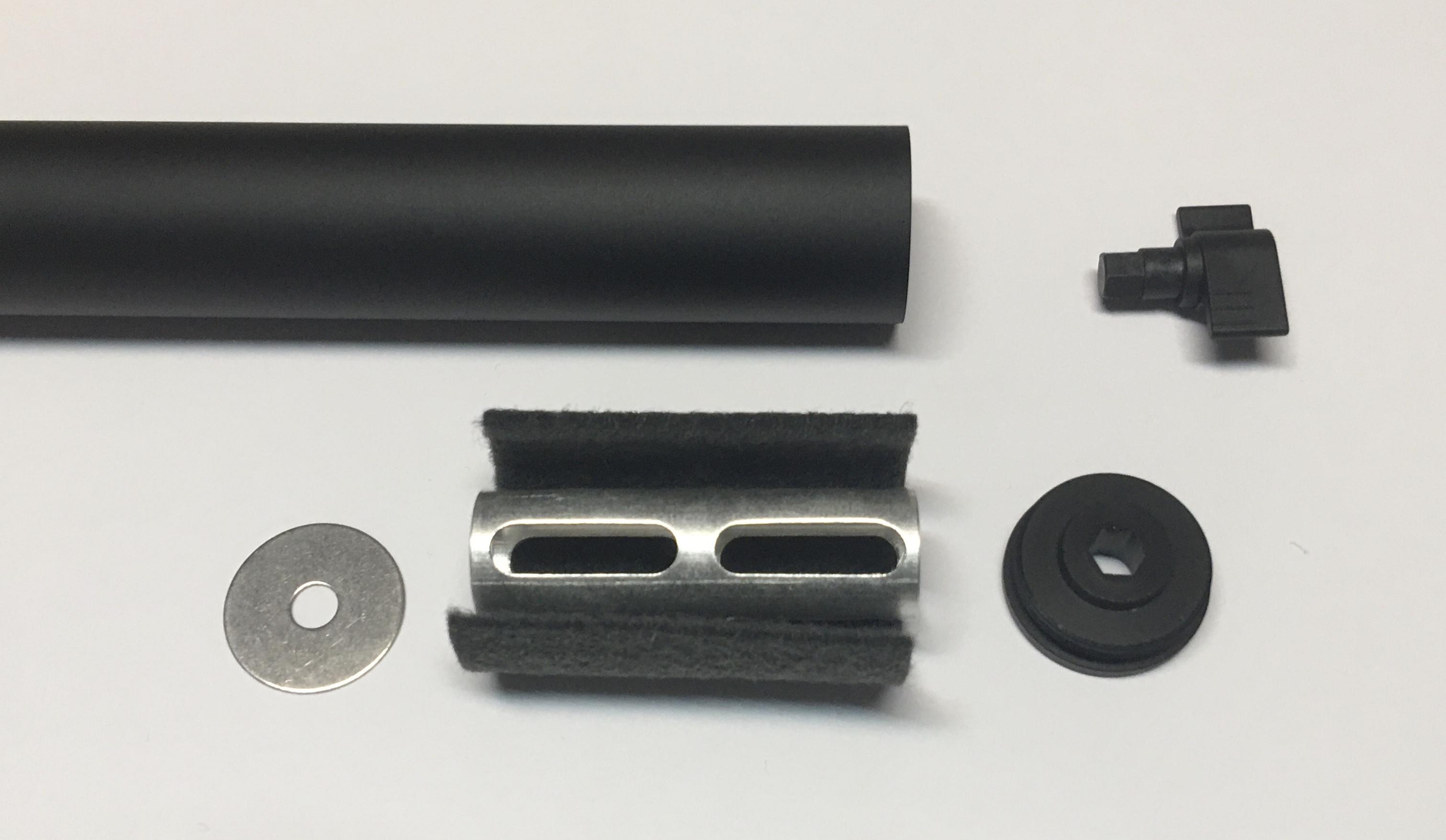 WASP Schalldämpfer Mk1 mit hohem Wirkungsgrad für freie Luftgewehre mit Laufgewinde 0,5 Zoll UNF 20