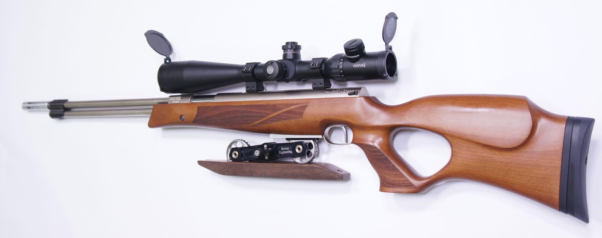 Gerne können Sie so ein Luftgewehr auch in vernickelter Ausführung und mit Optik bei mir bekommen. Bei Bedarf fragen Sie bitte an.