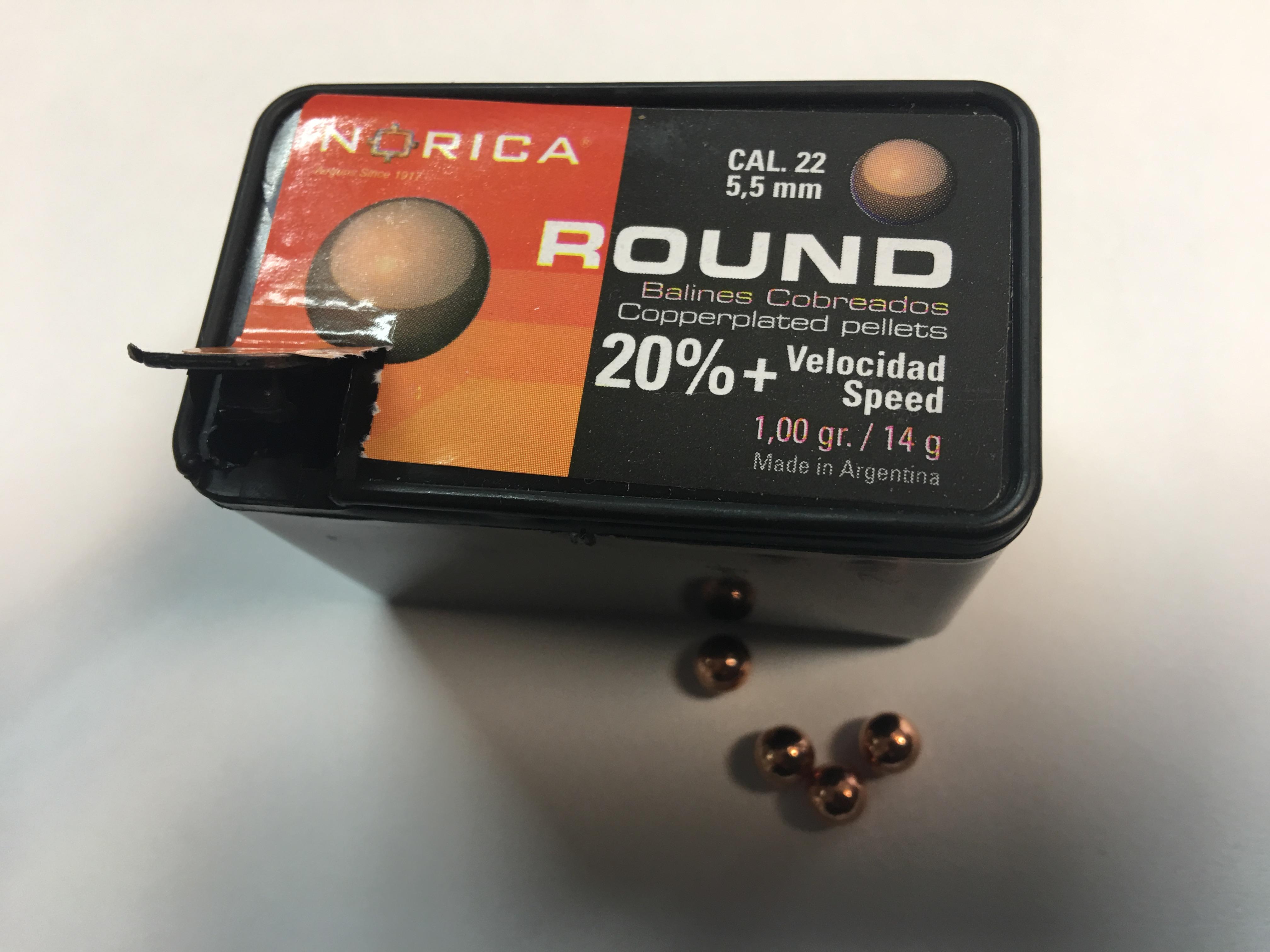 verkupferte Bleikugeln 5,5mm für Luftdruckwaffen