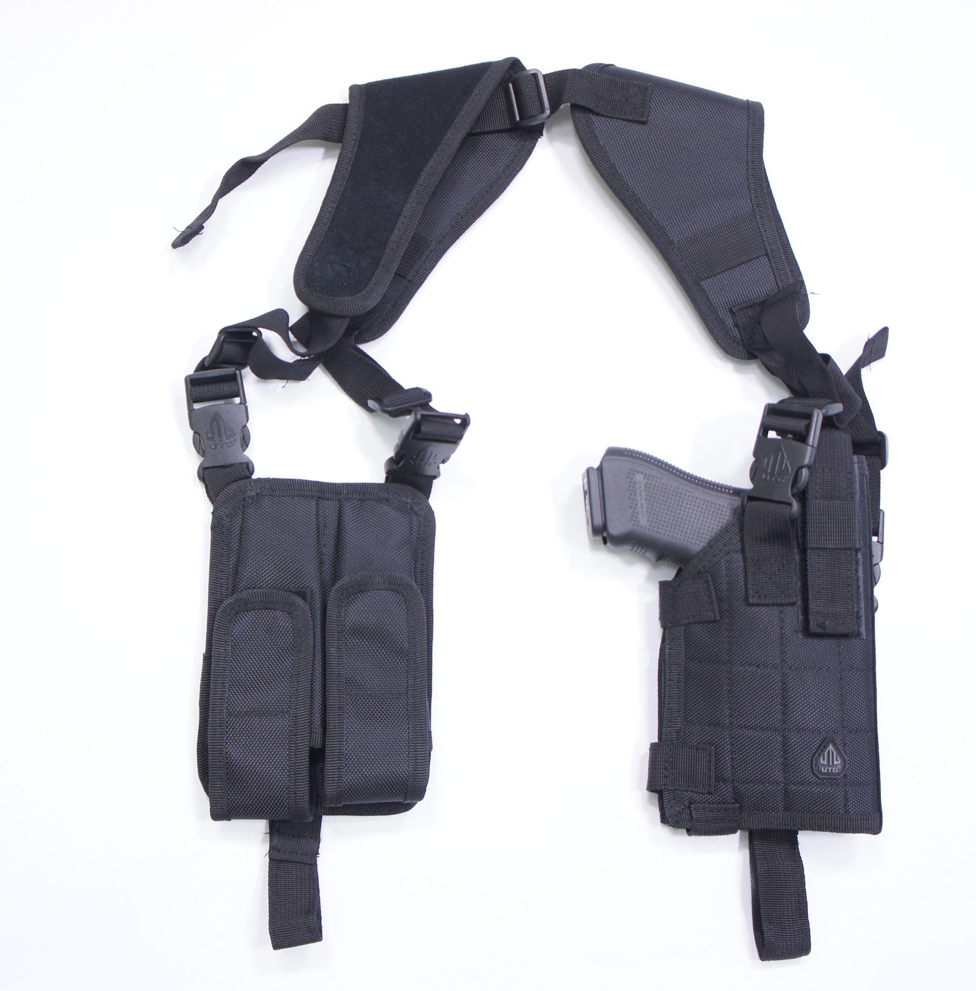 Anwendungsbeispiel von Schulterholster  mit Glock 17